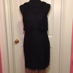 Black lace shift dress by Jump Apparel sz 7/8